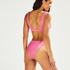 Bikini-Slip mit hohem Beinausschnitt Vintage HKM x NA-KD, Rosa