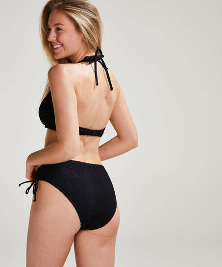 Crochet Bikini Top , Schwarz