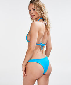 Triangel-Bikinitop Reversible, Blau