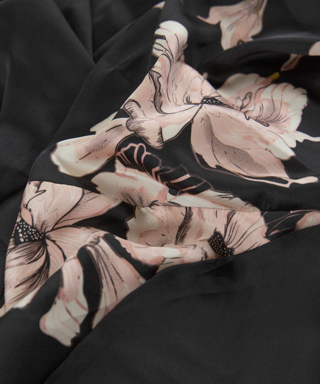 Kimono Satinblüte, Schwarz, main