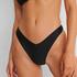 Bikini-Slip mit hohem Beinausschnitt HKM x NA-KD, Schwarz