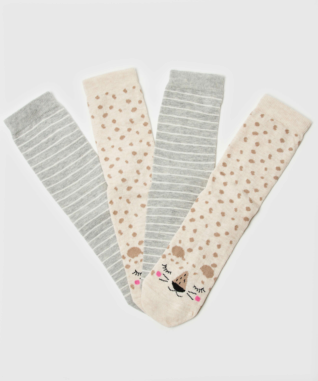 2 Paar Socken, Weiß, main