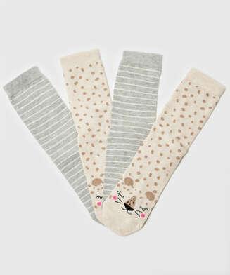 2 Paar Socken, Weiß