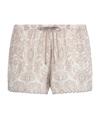 Pyjama-Shorts, Weiß