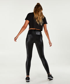 HKMX-Highwaist-Sportleggings Shiny, Schwarz