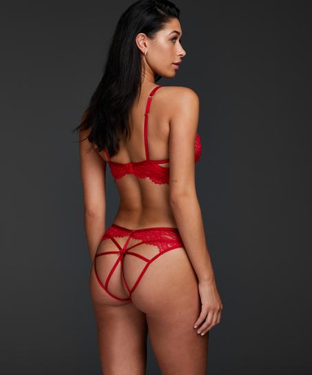 Brazilian mit offenem Schritt Eve, Rot