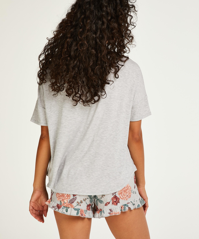 Kurzes Pyjamaset, Grau, main