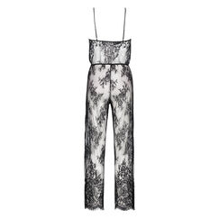 Jumpsuit Allover-Lace, Schwarz