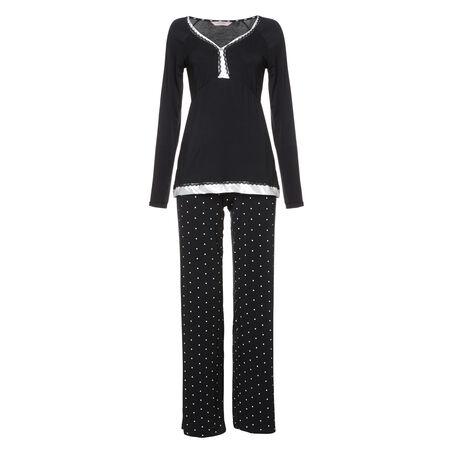 Pyjama set Pam, Schwarz