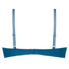 Vorgeformter Bügel-BH Plunge, Blau