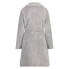 Bademantel Fleece, Grau
