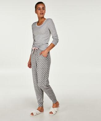Pyjamahose Jersey, Grau