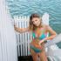Brazilian Tanga Bikini-Slip Celine, Blau