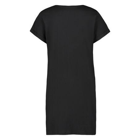 Nachthemd Rundhals, Schwarz