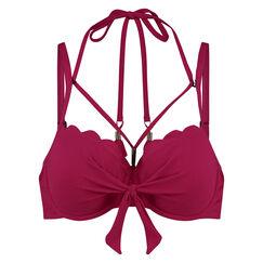 Vorgeformtes Bügel-Bikinitop Scallop Glam, Rose