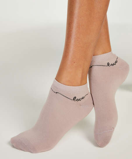 2 Paar Socken, Lila