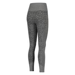 HKMX Sportlegging hohe Taille Rundstrick leopard, Grau