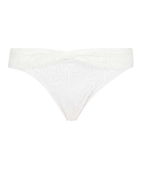 Rio Bikinihose Etta Crochet , Weiß