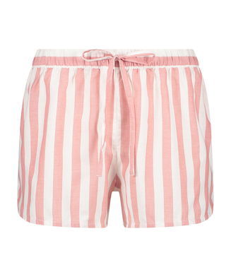 Shorts Chambray Stripe, Rosa