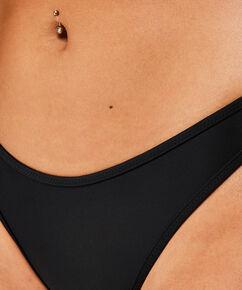 Hoch ausgeschnittener Bikini-Slip Haze, Schwarz