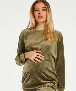 Schwangerschafts-Top Samt , grün