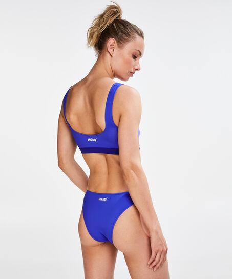 HKMX Niedriger Cheeky-Bikinislip, Blau