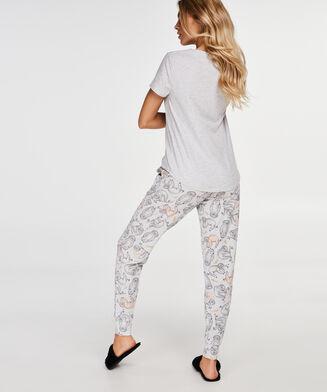 Pyjamahose Loose fit, Grau
