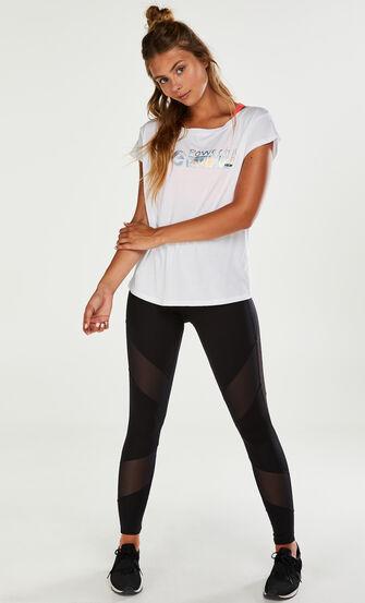 HKMX-Kurzarm-Sportshirt, Weiß