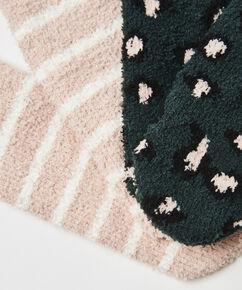 2 Paar Cosy Socks, grün