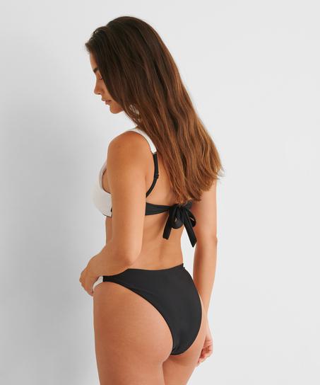 Bikini-Slip mit hohem Beinausschnitt 2Tone HKM x NA-KD, Weiß