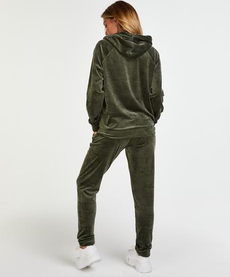 Hoodie Velours, grün