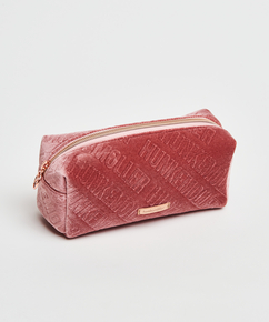 Velours-Schminktäschchen, Rosa