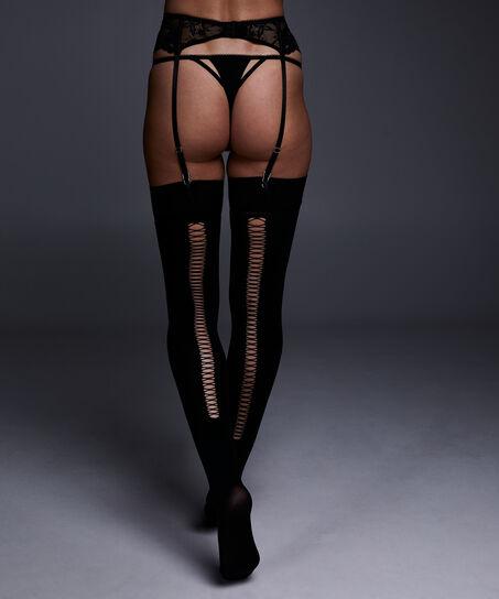 Stocking private 50 denier corsetry, Schwarz