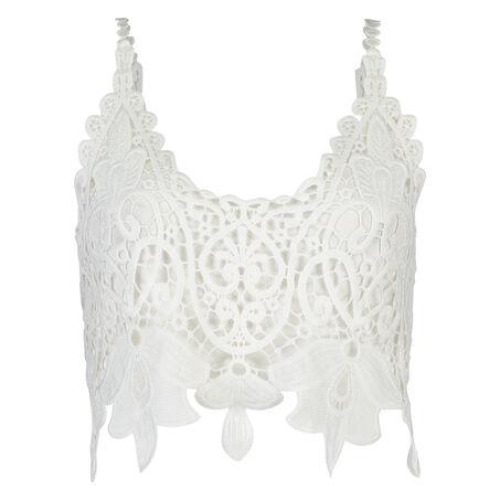 Crochet-Top, Weiß