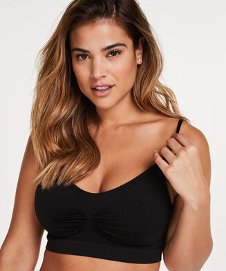 Strappy-Top, seamless, Schwarz