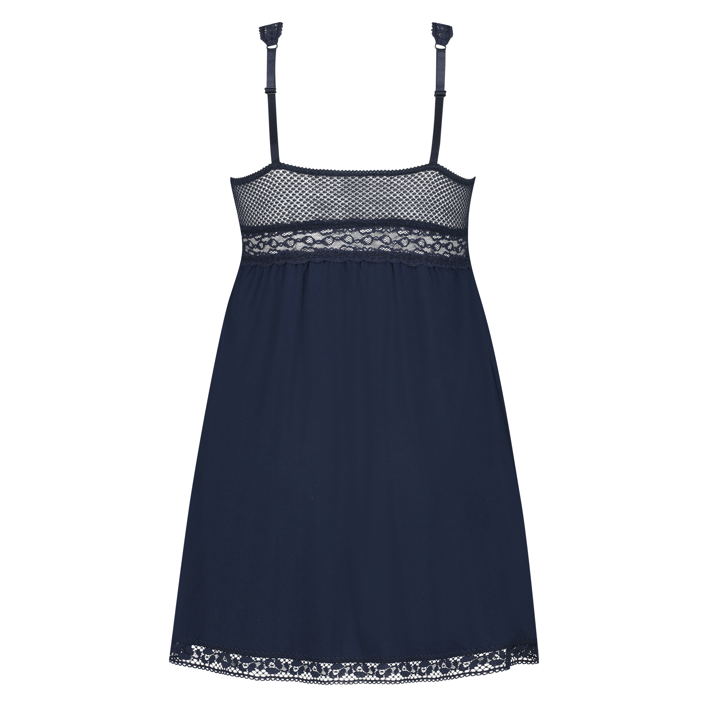 Graphic Lace slipdress, Blau, main