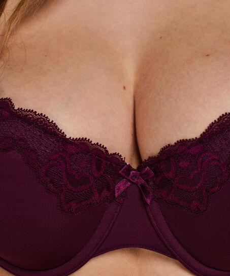 Vorgeformter Bügel-BH Secret Lace mit Spitze, Lila