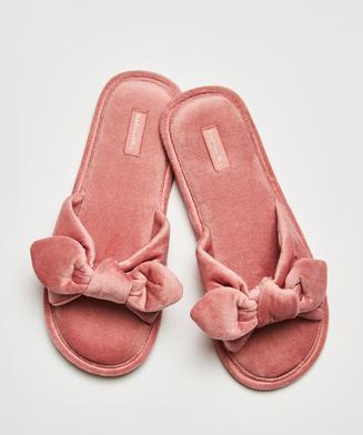 Velours-Slippers Knot, Rosa