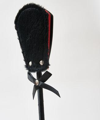 Private Peitsche fake fur, Schwarz