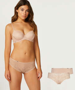 2er-Pack Brazilians Angie, Beige