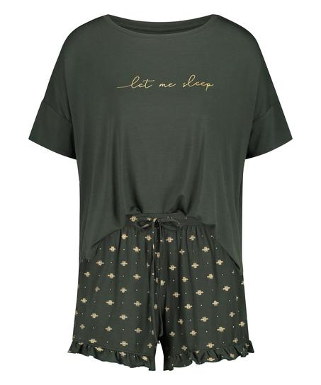 Kurzes Pyjamaset, grün
