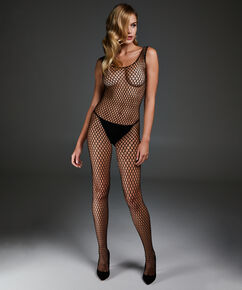 Private Catsuit Fishnet, Schwarz