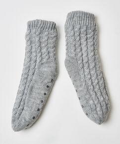 Haussocken Knit, Grau