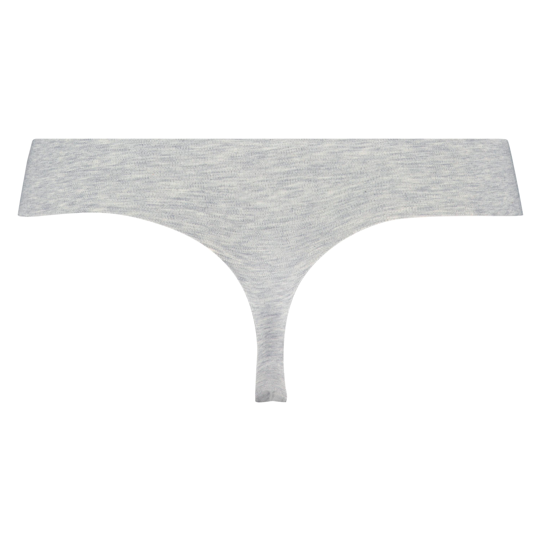 Invisible String aus Baumwolle, Grau, main