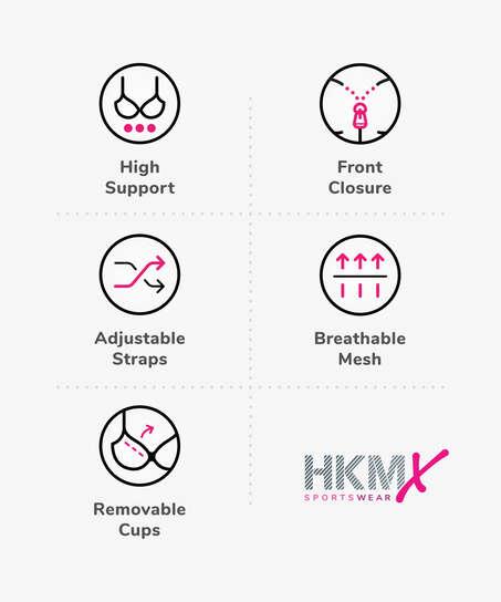 HKMX Sport-BH The Pro Level 3, Schwarz