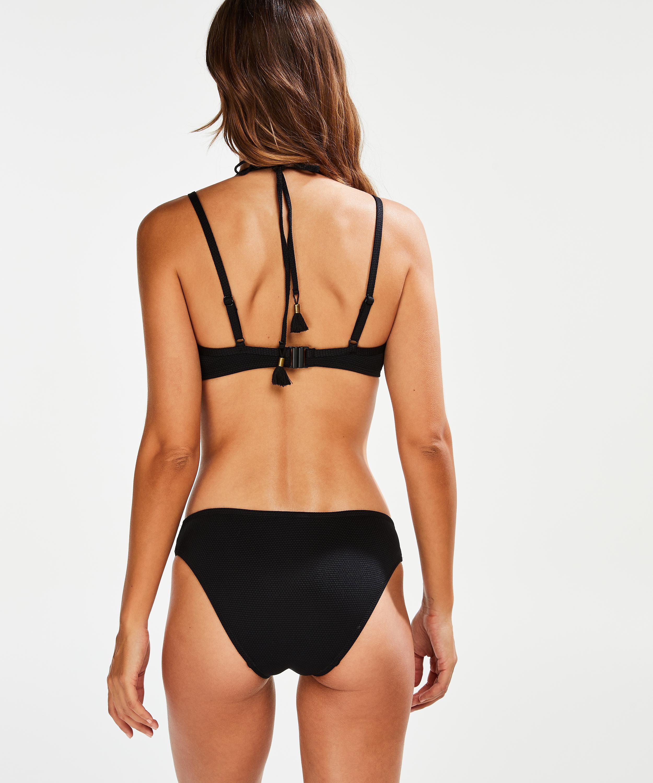 Vorgeformtes Bügel-Bikinitop Scallop Glam, Schwarz, main