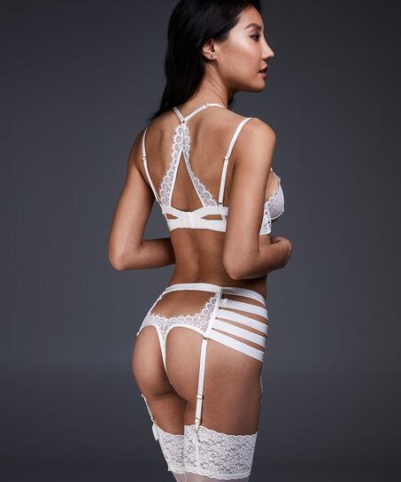 Hoher Strapse-String Peaches, Weiß