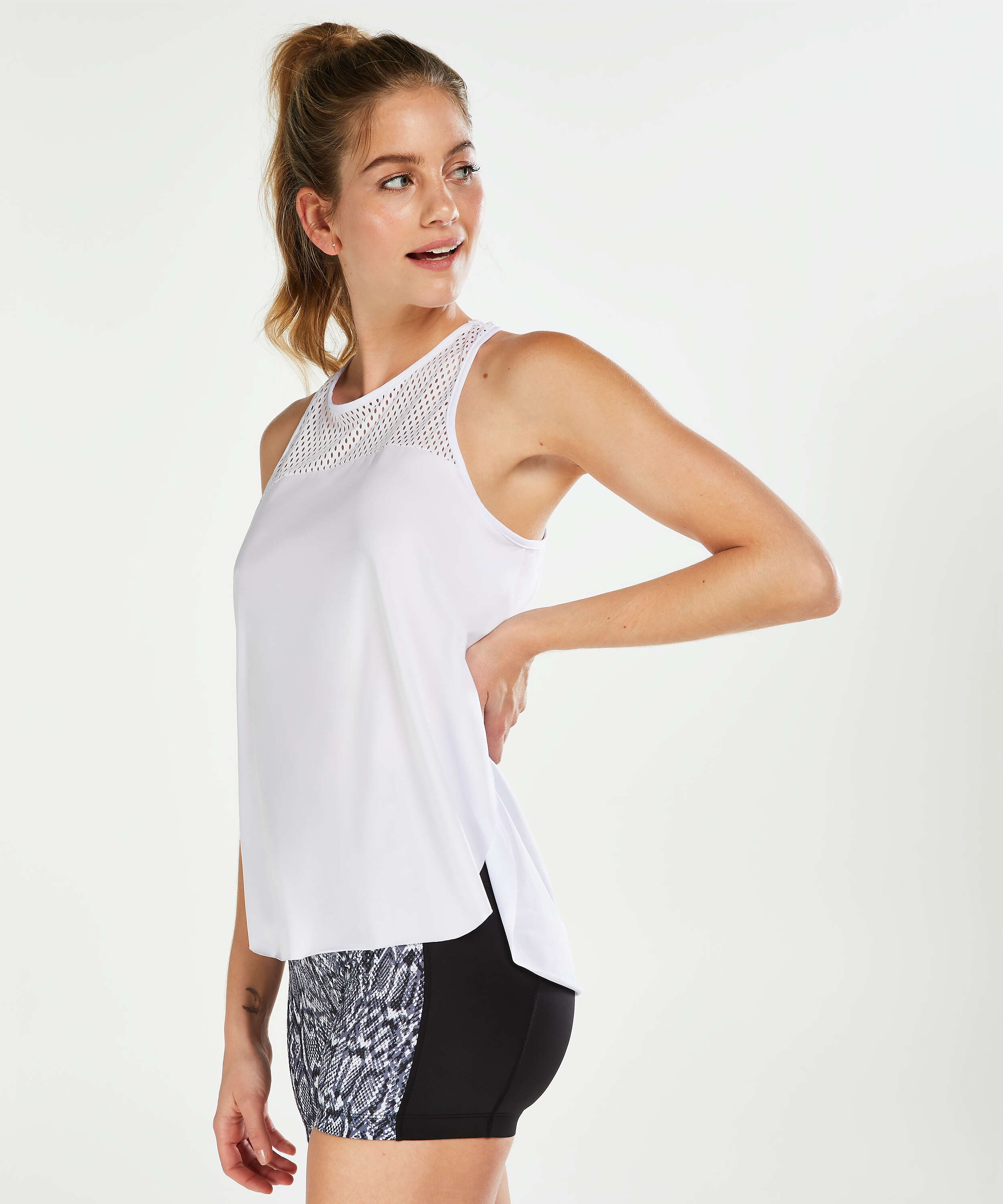 HKMX Tank Top Loose Fit, Weiß, main