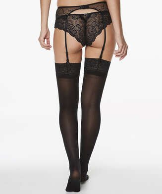 Stockings 50 Denier Lace, Schwarz