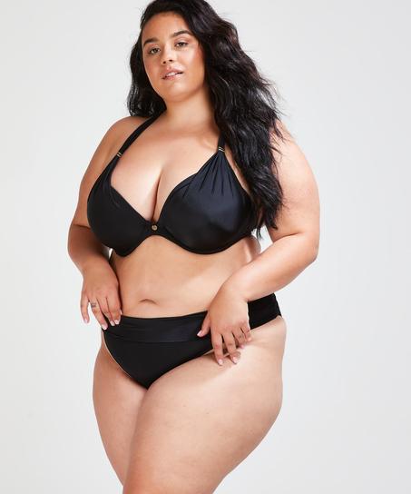 Vorgeformtes Bügel-Bikini-Top Sunset Dreams Cup E +, Schwarz